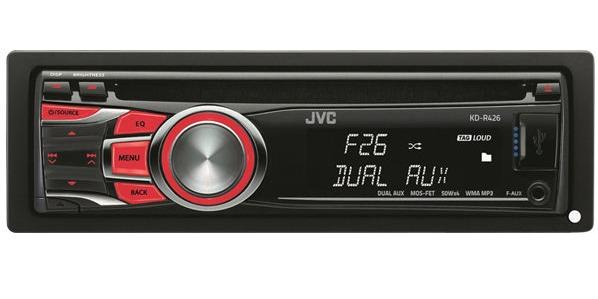 پخش کننده خودرو جی وی سی مدل KD-R426