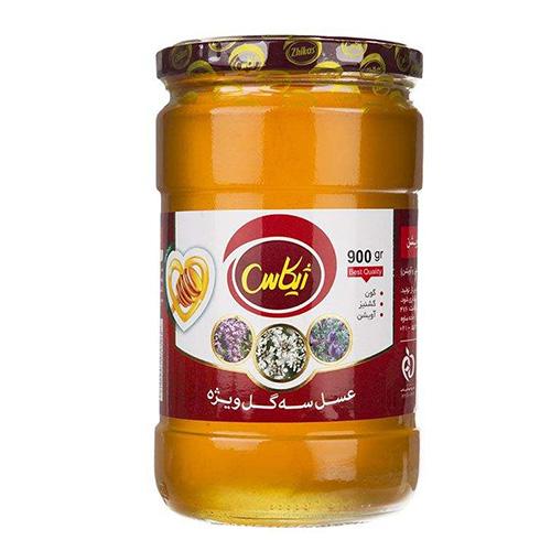 عسل سه گل ویژه ژیکاس مقدار 900 گرم