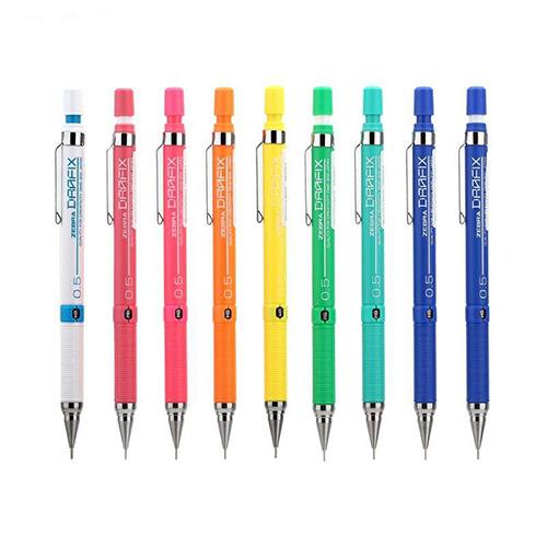 مداد نوکی 0.5 میلی متری زبرا مدل Drafix F (رنگهای نئونی)