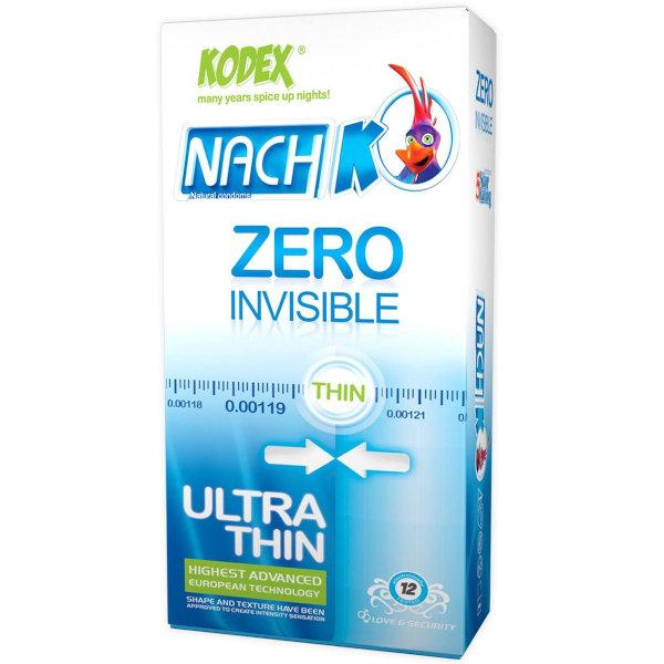 کاندوم کدکس مدل Zero Invisible بسته 12 عددی