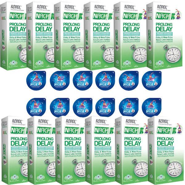 کاندوم ناچ کدکس مدل PROLONG DELAY مجموعه 12 عددی به همراه کاندوم ناچ کدکس مدل بلیسر بسته 12 عددی