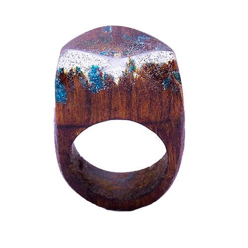 انگشتر باربد مدل چوب و شیشه کدQ234