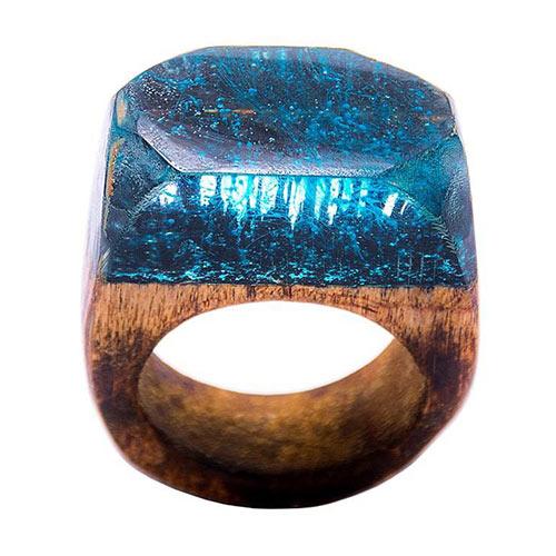 انگشتر باربد طرح چوبی کد A3