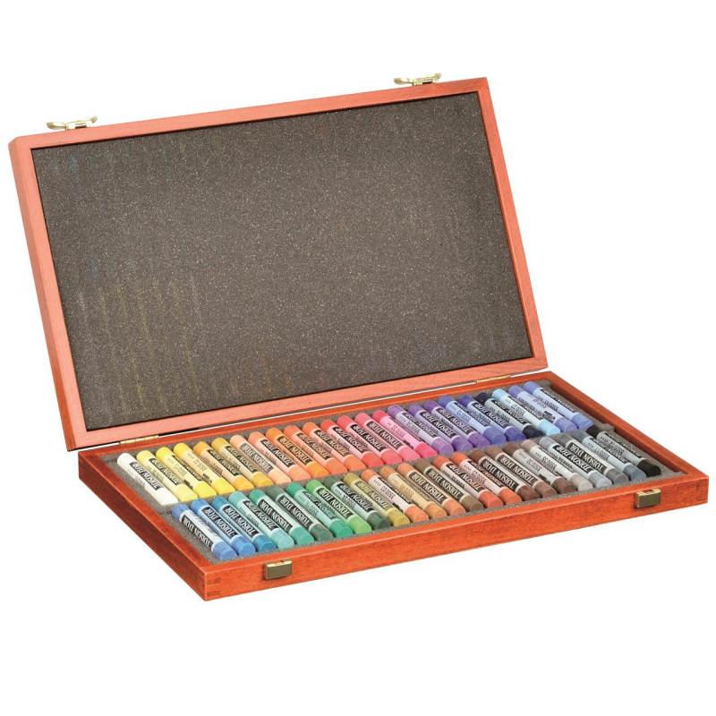 پاستل گچی 48 رنگ کوه نور مدل جعبه چوبی کد 8596