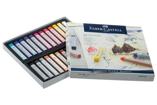پاستل روغنی 24 رنگ فابر-کاستل سری Creative Studio مدل Studio Quality