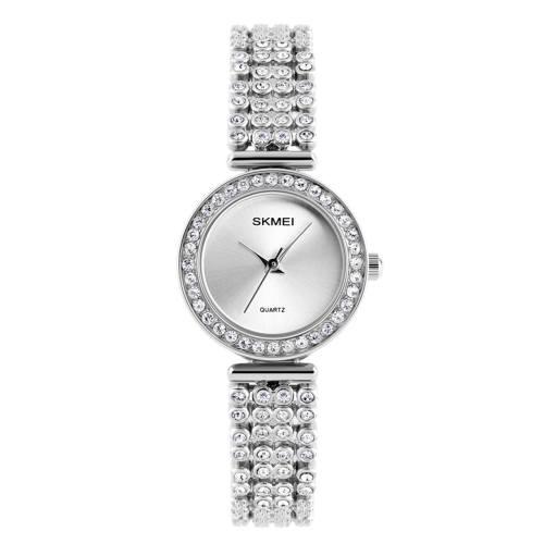 ساعت مچی عقربه ای زنانه اسکمی مدل 1224 نقره ای