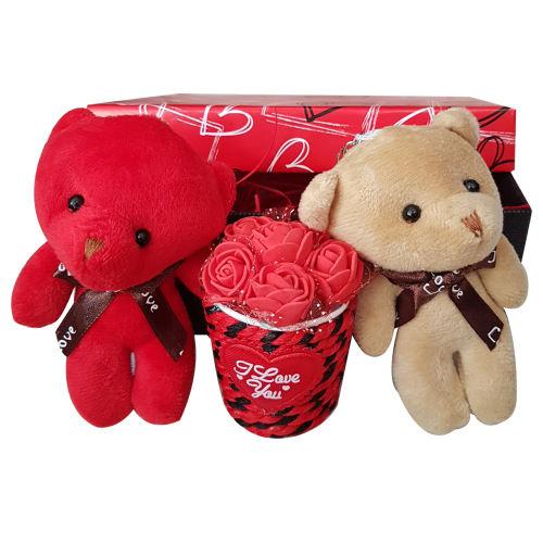 ست هدیه عروسک طرح خرس کد A-456