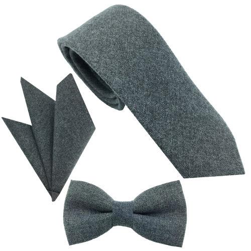 ست کراوات پاپیون و دستمال جیب هکس ایران مدل SET-TUS NKH
