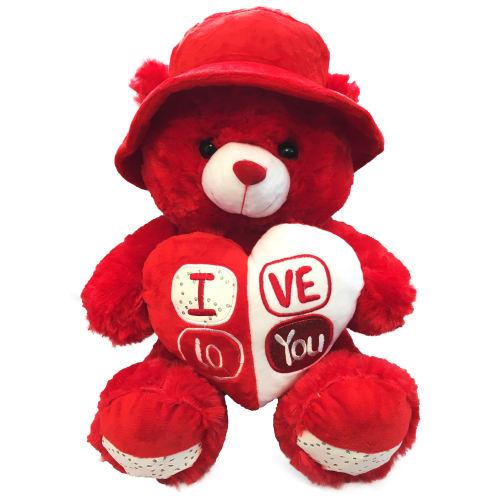 عروسک طرح خرس مدل Love3 ارتفاع 50 سانتی متر