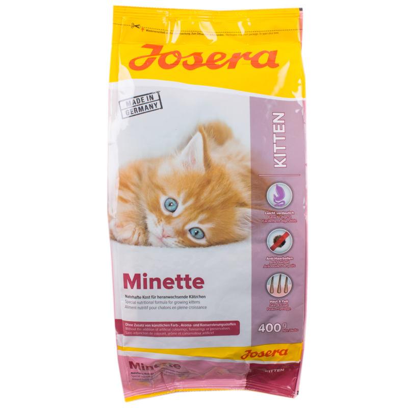 غذای خشک گربه جوسرا مدل MINETTE وزن 400 گرم