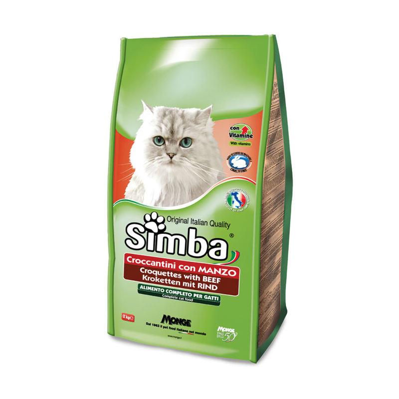 غذای خشک گربه سیمبا مدل Beef-09041 با طعم بیف وزن 2 کیلوگرم