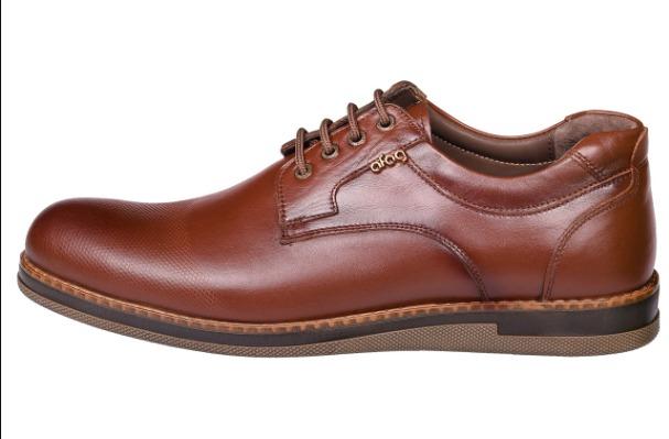 کفش طبی مردانه آفاق مدل 1532 رنگ قهوه ای