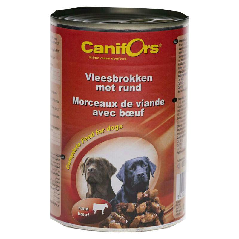 کنسرو غذای سگ کنیفورس مدل Meat Rund وزن 410 گرم