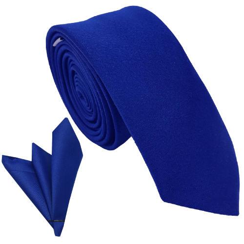 ست کراوات و دستمال جیب هکس ایران مدل SET-SM BLU تک سایز