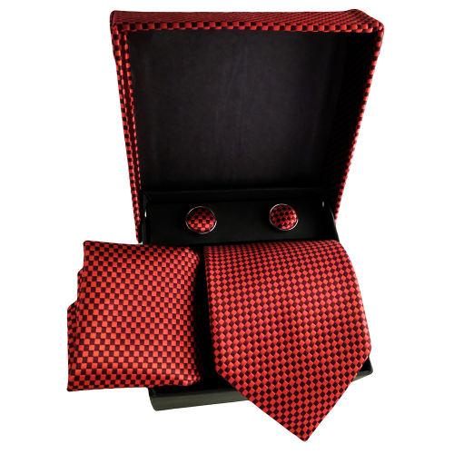 ست کراوات و دستمال جیب و دکمه سردست مردانه کد 252