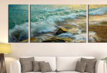 تصویر خرید تابلو دیواری سه تکه در طرحهای زیبا