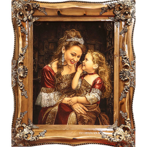 تابلوفرش دستبافت آنافرش طرح مهر مادر کد 11418