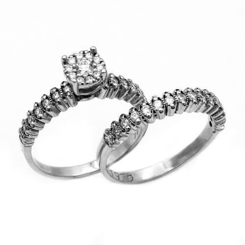 حلقه و پشت حلقه طلا 18 عیار جواهری سون مدل 2291،2292