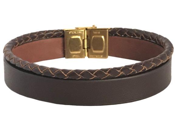 دستبند چرمی ام استایل مدل BL03