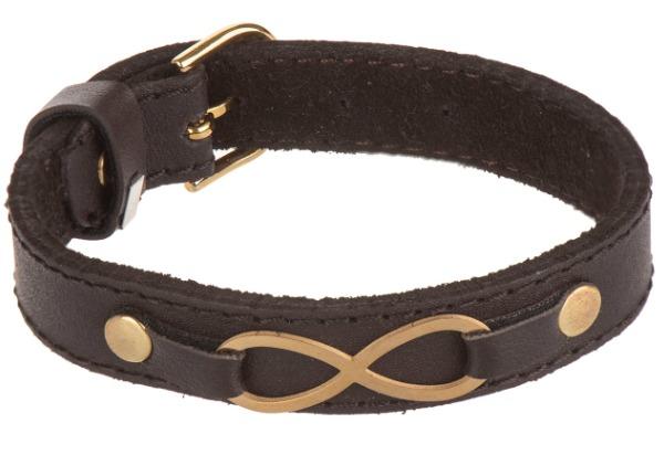 دستبند چرمی طرح بی نهایت مدل DHAD1017