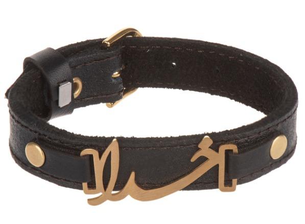 دستبند چرمی طرح خدا مدل DHAD1025