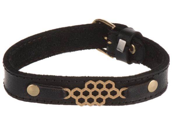 دستبند چرمی طرح کندو مدل DHAD1010