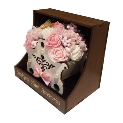سبد گل مصنوعی ماگنولیا مدل کالسکه مناسب ولنتاین خانمها
