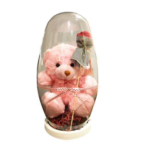 پک هدیه و ست هديه عروسک خرس با شیشه مدل 05