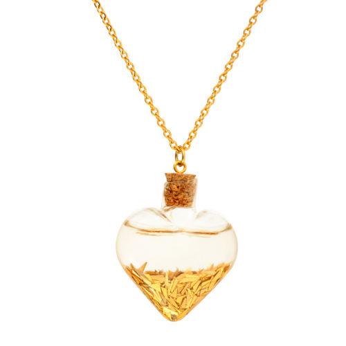 گردنبند طلا 24 عیار زنانه طرح قلب کد 1342 هدیه ولنتاین برای خانمها