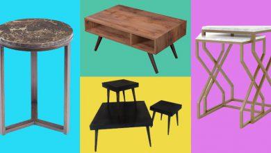 تصویر خرید 15 مدل میز جلو مبلی و عسلی شیک چوبی و سنگی
