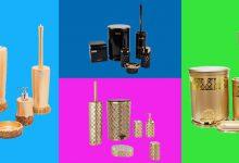 تصویر 10 مدل ست سرویس بهداشتی ارزان لیمون، طلایی و سرامیکی