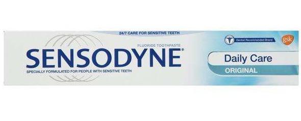 خمیر دندان سنسوداین سری Daily Care مدل Original Sensitive Teeth حجم 50 میلی لیتر