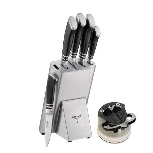 سرویس چاقو آشپزخانه 7 پارچه وینر کد W7337S به همراه چاقو تیز کن