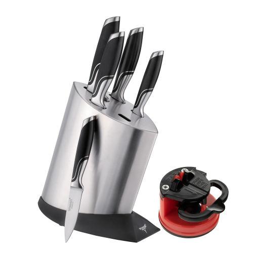 سرویس چاقو آشپزخانه 7 پارچه وینر کد WP7336 به همراه چاقو تیزکن