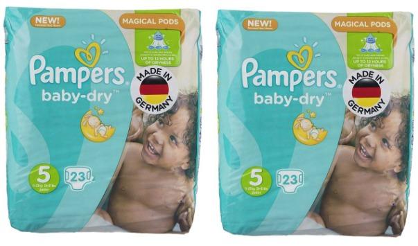 پوشک پمپرز مدل New Baby Dry سایز 5 بسته 23 × 2 عددی