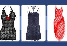 تصویر خرید 10 مدل ست لباس خواب و شورت زنانه توری و جدید