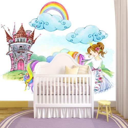 پوستر دیواری کودک طرح اسب شاخدار کد 2518123