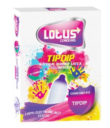 کاندوم لوتوس مدل Tip Dip بسته 3 عددی