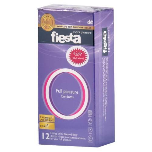 کاندوم نهایت لذت فیستا مدل Full Plesasure بسته 12 عددی