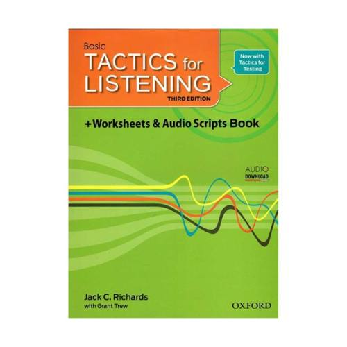 کتاب Basic Tactics For Listening third Edition اثر Jack C.Richards and Grant Trew انتشارات Oxford