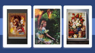 تصویر خرید تابلو پازلی چند تکه در طرحهای کلاسیک و جدید