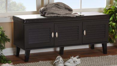 تصویر بهترین جاکفشی چوبی شیک و مدرن برای خانه و آپارتمان